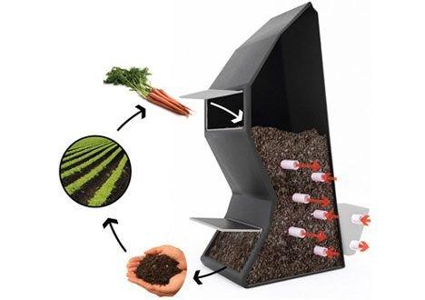 Čajovňa/krízové ubytovanie vykurované kompostom