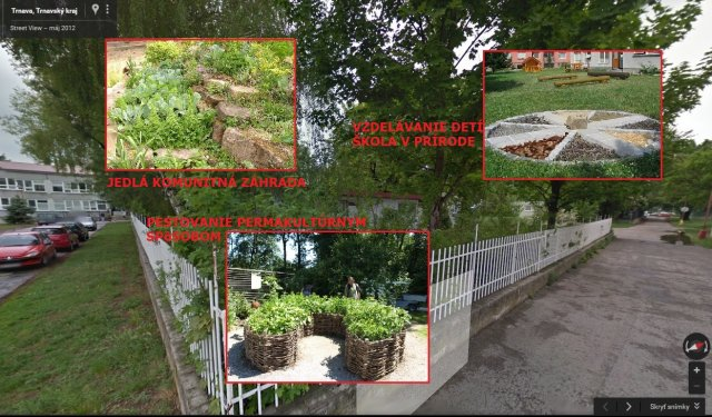 komunitné centrum s jedlou záhradou
